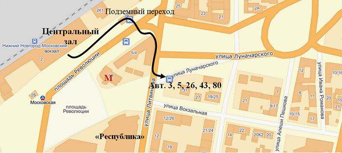 от Московского вокзала до ННГУ